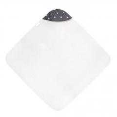 Bamboo baby towel Stars - Cream