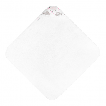 Bamboo baby towel Blush rain White