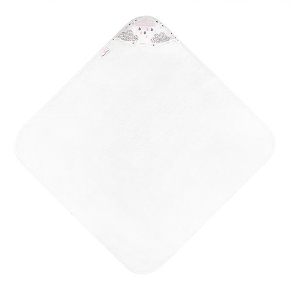 Ręcznik bambusowy niemowlaka Pudrowy deszczyk Śmietanka