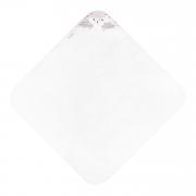 Bamboo baby towel Blush rain White