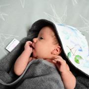 Ręcznik bambusowy niemowlaka Niebiańskie ptaszki Śmietanka