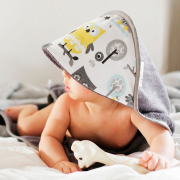 Ręcznik bambusowy niemowlaka Bajkoniki Róż