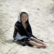 Ręcznik bambusowy z kapturem Pudrowy deszczyk Szary