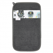 Bamboo hand towel Grey owls Grey