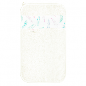 Bamboo hand towel Paradise feathers White