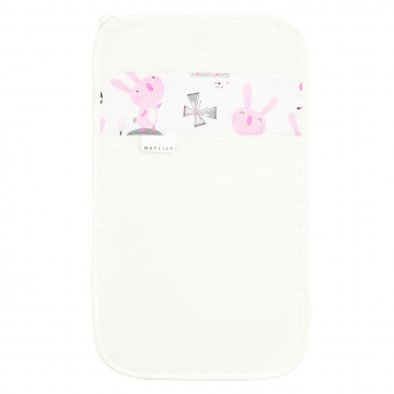 Bamboo hand towel Bunnies White