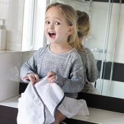Bamboo hand towel Stars Grey