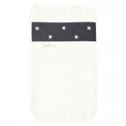 Bamboo hand towel Stars White