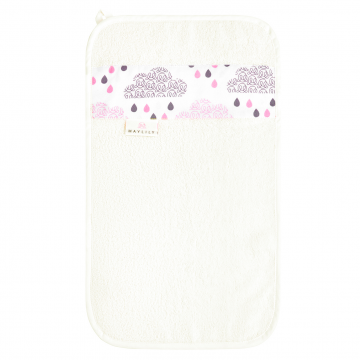 Bamboo hand towel Blush rain White