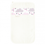 Bamboo hand towel Blush rain White