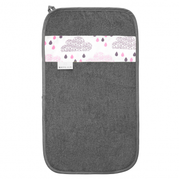 Bamboo hand towel Blush rain Grey