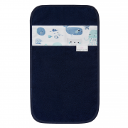 Bamboo hand towel - Sea friends - navy