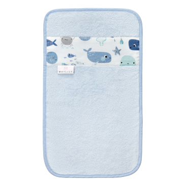 Bamboo hand towel Sea friends Blue