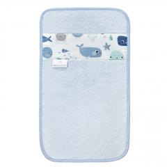 Bamboo hand towel Sea friends - Light blue