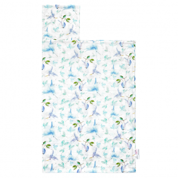 Bamboo muslin towel Heavenly birds