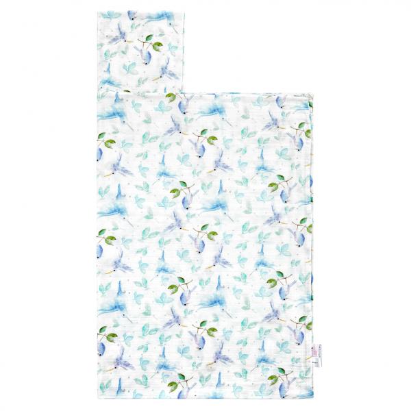 Bamboo muslin towel Heavenly birds