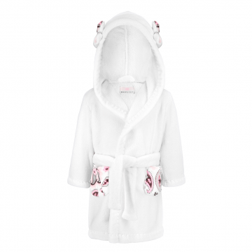 Bathrobe Flowers White