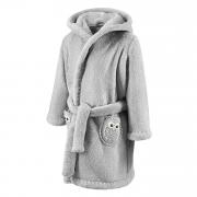 Bathrobe crocheted owls Grey-Grey