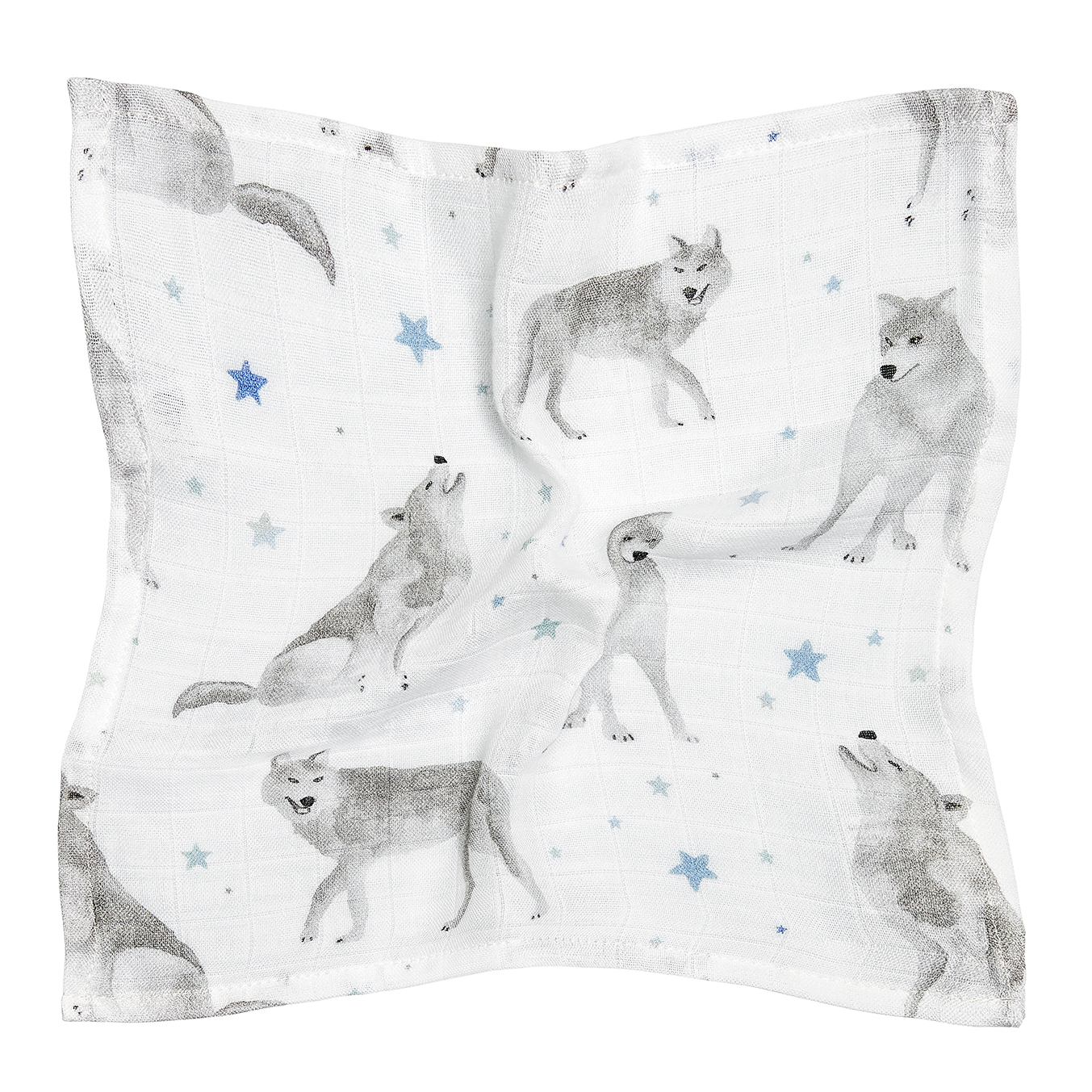Bamboo muslin mini square Star wolves