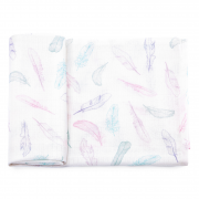 Bamboo muslin square Paradise feathers