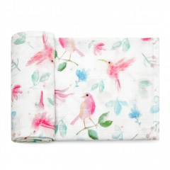 Bamboo muslin square Paradise birds