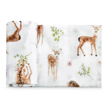 Bamboo muslin square Fawns