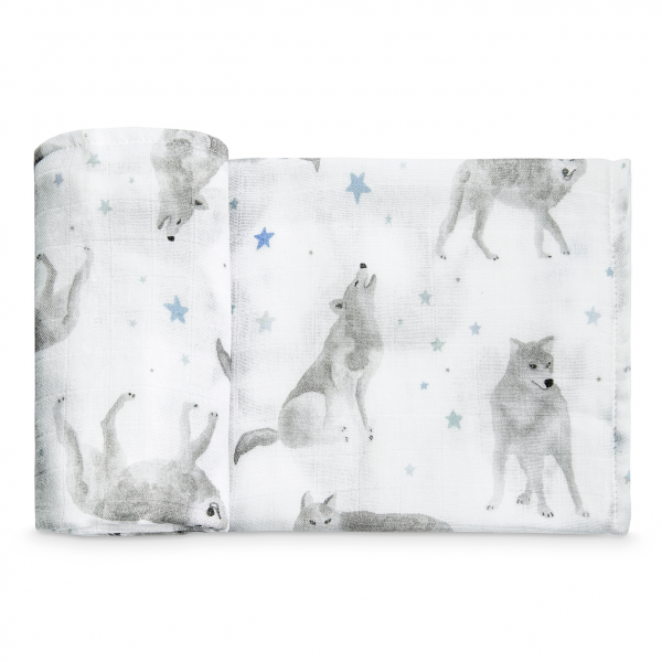 Bamboo muslin square Star wolves