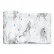 Bamboo square 70x70 - star wolves