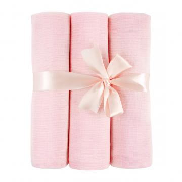 Muslin squares 3-pack - pink