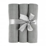 Muslin squares 3-pack - grey