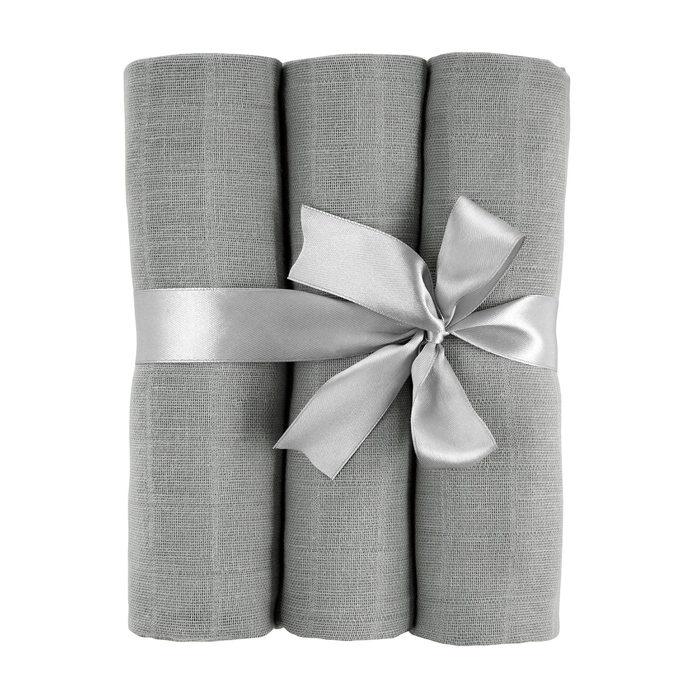 Muslin squares 3-pack Grey