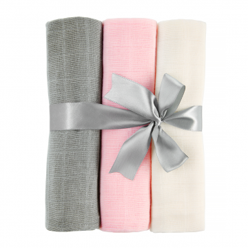 Muslin squares 3-pack Mix