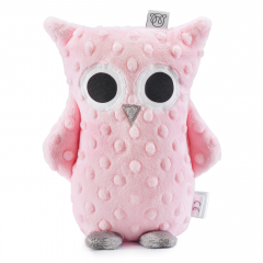 Cuddly owl Lili - dusty pink