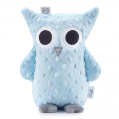 Cuddly owl Lili - light blue