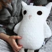Mila Cuddly owl Silver