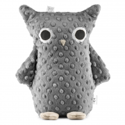 Cuddly owl Mila - graphite