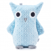 Cuddly owl Mila - light blue