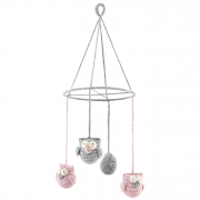 Carousel Owls - dusty pink
