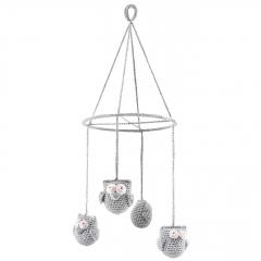 Carousel Owls - grey