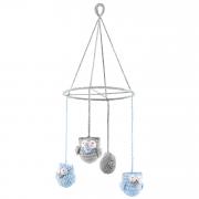 Carousel Owls - light blue
