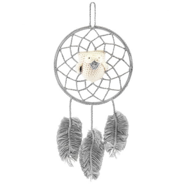 Dreamcatcher owl grey - cream