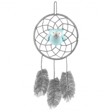 Dreamcatcher owl grey - mint