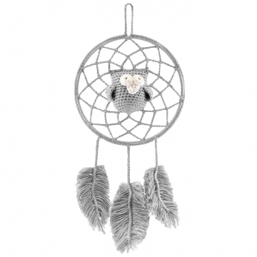Dreamcatcher owl grey - grey