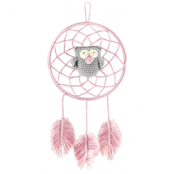 Dreamcatcher owl dusty pink - grey