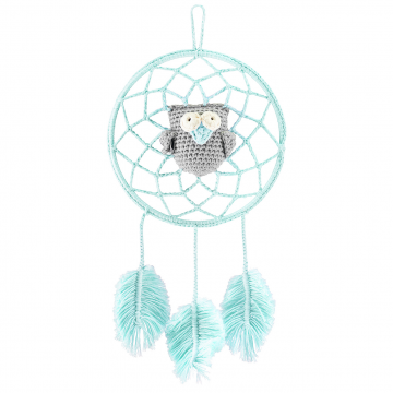 Dreamcatcher owl mint - grey