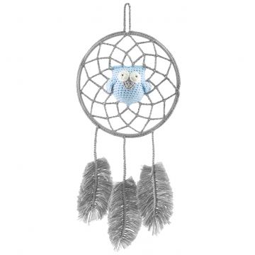 Dreamcatcher owl grey - blue