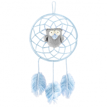 Dreamcatcher owl blue - grey