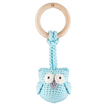 Eco owl teether Mint