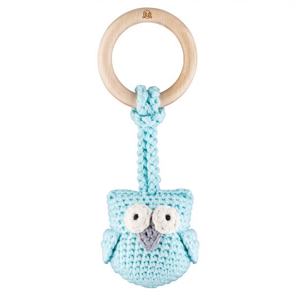 Eco owl teether Mint