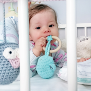 Eco owl teether Cream